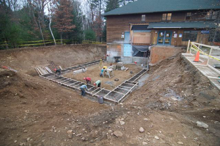 November 2010. Digging the foundation of the new wing